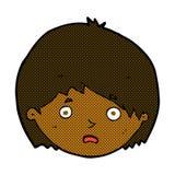 unglücklicher Junge der komischen Karikatur Stockbilder