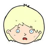 unglücklicher Junge der komischen Karikatur Lizenzfreies Stockbild