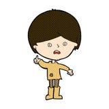 unglücklicher Junge der komischen Karikatur Lizenzfreies Stockfoto
