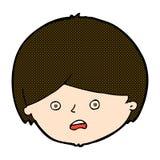 unglücklicher Junge der komischen Karikatur Lizenzfreie Stockbilder