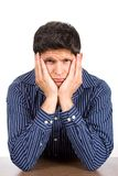 Unglücklicher trauriger schauender Mann Stockbilder