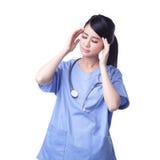 Unglücklicher Umkippenfrauenchirurg Lizenzfreie Stockfotos
