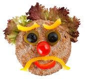 Unglückliches Gesicht gebildet vom Gemüse Lizenzfreie Stockbilder