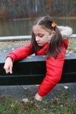 Unglückliches junges Mädchen Stockbilder