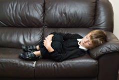 Unglückliches Kind. Stockfotos