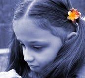 Unglückliches Kind Stockfoto