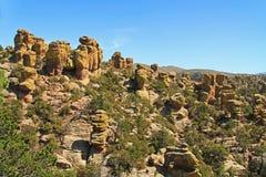 Unglücksbote-Bildungen in Chiricahua-Nationaldenkmal, Arizona stockfotografie