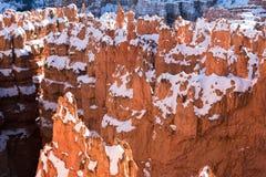 Unglücksboten mit Schnee, Bryce Canyon National Park lizenzfreie stockbilder