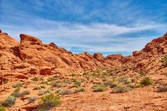 Unglaublich schöne Landschaft in Süd-Nevada, Tal des Feuer-Nationalparks, USA Lizenzfreies Stockbild