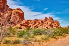 Unglaublich schöne Landschaft in Süd-Nevada, Tal des Feuer-Nationalparks, USA Lizenzfreie Stockfotos