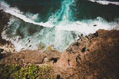 Unglaubliche Ansicht des Indischen Ozeans stockbilder