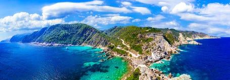 Unglaubliche Beschaffenheit von Skopelos-Insel, Sporades, Griechenland stockfoto