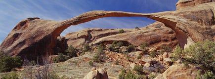 Unglaublicher natürlicher Steinbogen Stockfotografie