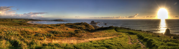 Unglaublicher Neuseeland-Sonnenuntergang Lizenzfreies Stockbild