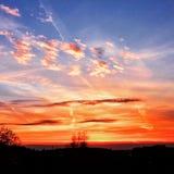 Unglaublicher Sonnenuntergang Stockfoto