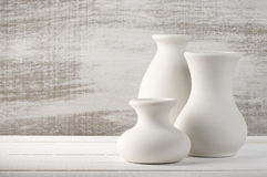 Unglazed ceramic vases Stock Image