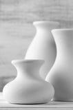 Unglazed ceramic vases Stock Photography
