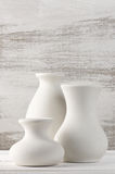 Unglazed ceramic vases Stock Photos