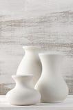 Unglazed ceramic vases Stock Photos