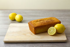 Unglazed lemon loaf cake Royalty Free Stock Photography