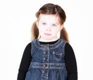 Unglückliches kleines Mädchen Stockbild