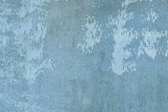 Ungleiche Beschaffenheit, mit Flecken und Flecken Alte Wand gemaltes schmutziges Blau Leerer Hintergrund f?r Pl?ne stockbild
