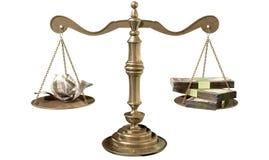 Ungleichheits-Skalen von Gerechtigkeit Income Gap India Stockfotografie