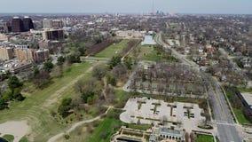 Ungraded powietrzny zasięrzutny widok południowa strona Kansas City zbiory wideo