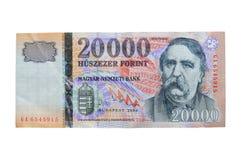 ungrare för 000 20 forinthuf Arkivbilder