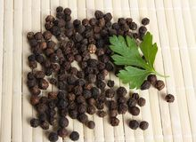 Ungrounded black pepper Stock Photography