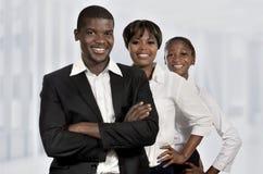 Ungt afrikanskt affärslag Fotografering för Bildbyråer