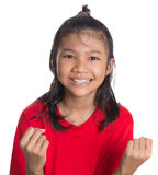 Ungt asiatiskt flickaframsidauttryck II arkivbilder