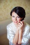 Ungt brudhem i morgon Arkivbild