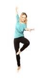 Ungt härligt posera för dansare arkivbild