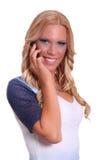 Ungt kvinnligt blont fotografering för bildbyråer
