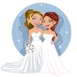 Ungt glatt bröllop kopplar ihop Arkivbild