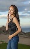 Ungt model multiracial teen Arkivbild