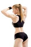 Ungt muskulöst posera för kvinna Fotografering för Bildbyråer