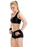 Ungt muskulöst posera för kvinna Royaltyfri Fotografi