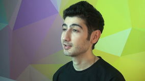 Ungt stiligt fejkar videobloger lager videofilmer