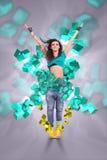Ungt välkomna för kvinnadansare Arkivfoton