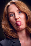 Unhöfliche Frau Stockfoto