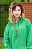 Unhöfliches rasta Mädchen Stockfotografie