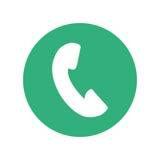 unha do polegar do botão do ícone do telefone ilustração do vetor