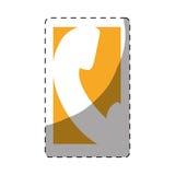 unha do polegar do botão do ícone do telefone ilustração royalty free
