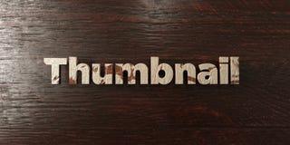 A unha do polegar - título de madeira sujo no bordo - 3D rendeu a imagem conservada em estoque livre dos direitos ilustração royalty free