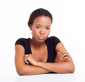 Unhappy african girl Stock Images