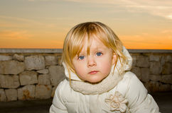 Unhappy alone child Royalty Free Stock Image