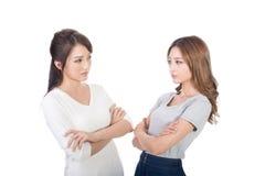 Unhappy Asian women Stock Photography