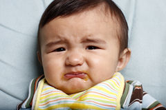 Unhappy baby Royalty Free Stock Images